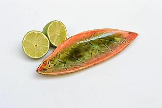 Nádoby - ZĽAVA , VÝPREDAJ 17,9 € z 19,9 € misa lososovo zelená lodička - 11766988_