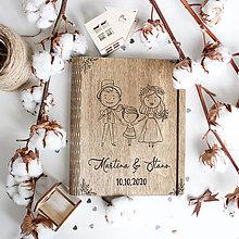 Papiernictvo - Svadobná kniha hostí Zaľúbený pár - 11769478_
