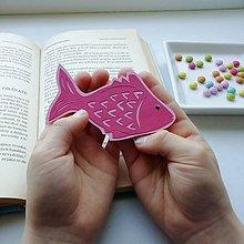 Papiernictvo - Ružová rybka do knižky... - 11772609_