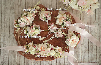 Opasky - Romantický svadobný set - 11771154_