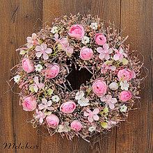 Dekorácie - Ružový veniec - 11773321_