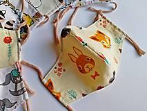 Rúška - Detské tvarované RÚŠKO s drôtikom - 11773329_