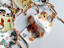 Rúška - Detské tvarované RÚŠKO s drôtikom - 11773405_