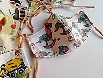 Rúška - Detské tvarované RÚŠKO s drôtikom - 11773415_