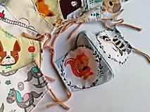 Rúška - Detské tvarované RÚŠKO s drôtikom - 11773428_