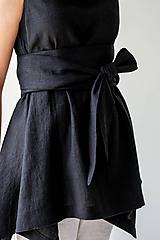 Opasky - Ľanový Kimono opasok - 11773890_