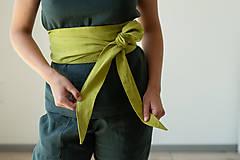Opasky - Ľanový Kimono opasok - 11773894_
