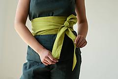 Opasky - Ľanový Kimono opasok - 11773895_