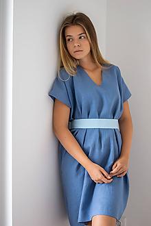 Šaty - Ľanové šaty Square - 11771948_