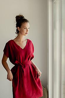 Šaty - Ľanové šaty Vanes - 11772618_