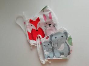 Rúška - Veselé bavlnené rúška pre deti aj dospelých - 11772574_