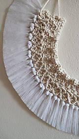 Dekorácie - Macramé dekorácia - POLMESIAC - 11772624_