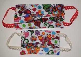 Rúška - Rúško motýliky MAMA & DCÉRA (2ks) - 11772780_