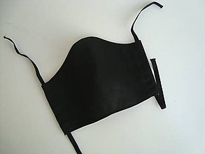 Rúška - Bavlnené keprové rúško dvojvrstvové dámske čierne - 11773078_
