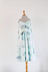 Šaty - Korzetové vzorované šaty s predĺženými ramienkami - 11773884_