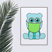 Grafika - Roztomilé zverky v rúšku(cik-cak rúško) grafika safari/džungľa - hroch - 11771681_