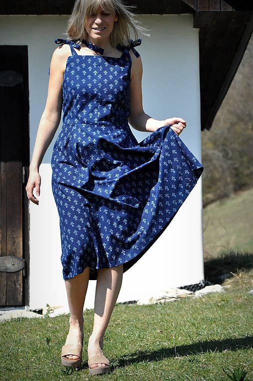 Šaty - Modrotlač šaty - 11776024_