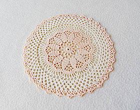 Úžitkový textil - Háčkovaná dečka Marhuľka a smotana - 11775489_
