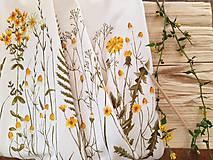 Sukne - Sukňa s lúčnymi kvetmi - 11774857_