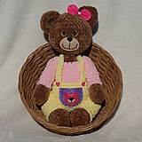 Hračky - Háčkovaná medvedica - Princeznička - 11774769_