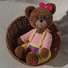 Hračky - Háčkovaná medvedica - Princeznička - 11774764_
