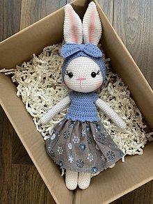 Hračky - zajačica Fifinka - v modrom - 11775657_
