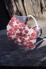 Rúška - Rúško -  bordové kvety - 11775694_