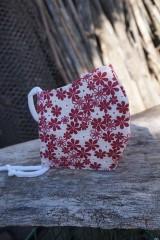 Rúška - Rúško -  bordové kvety - 11775698_