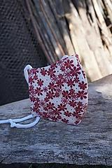 Rúška - Rúško -  bordové kvety - 11775699_