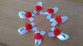 Pierka - Svadobné pierka bielo červené - 11775567_