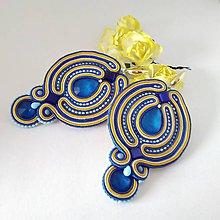 Náušnice - Luxusné náušnice (Modrá) - 11774557_
