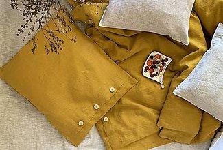 Úžitkový textil - Ľanové posteľné obliečky - 11775206_