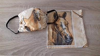 Rúška - Rúško 2 vrstvové - kone - 11778146_