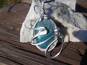 Náhrdelníky - blue apatit- Tiffany Art - 11777869_