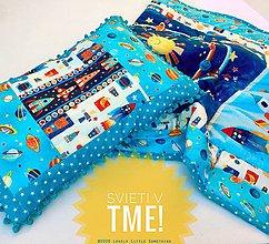 """Textil - """"Do vesmíru!"""" Patchworková deka s vankúšikom - 11778473_"""