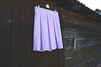 Sukne - Sukňa - ružová vlnka - 11780655_