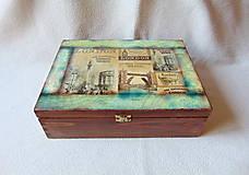 Krabičky - Drevená krabička Staré časy - 11780251_