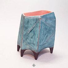 Dekorácie - Azúrová váza - 11778777_
