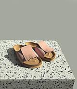 Obuv - Korkáče Pink velur - 11780587_