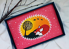 Nádoby - Líščí šlofík - Drevený podnos - 11781131_
