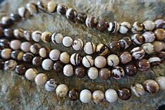 Minerály - Jaspis zebra hnedá 8mm (1 korálka) - 11780918_