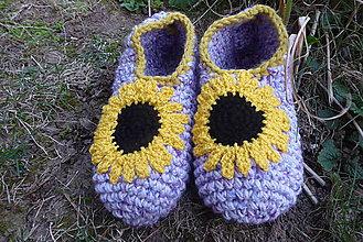Obuv - Slnečnice fialové č.37-39 - 11777884_