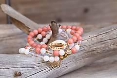 Náramky - TRIO náramky z minerálov jadeit, achát, krištáľ - 11778367_