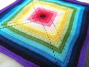 Textil - Dúhová deka - 11778463_