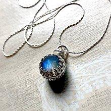 Náhrdelníky - Double Side Labradorite and Amazonite Necklace AG925 / Strieborný náhrdelník s obojstranným príveskom - 11782889_