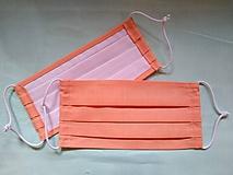 Rúška - Rúško marhuľová jednovrstvové/dvojvrstvové - 11784382_