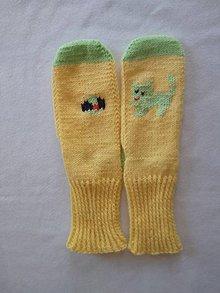 Obuv - Ponožky-mačička s loptou - 11782528_