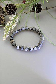 Náramky - jaspis sivý náramok pánsky - 11784778_