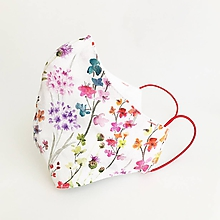 Rúška - *NOVÝ EŠTE LEPŠÍ STRIH* dvojvrstvové rúško 100 % bavlna/úplet, Letná záhrada - 11782627_