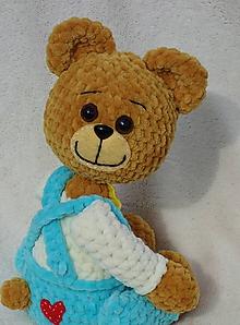 Hračky - Háčkovaný medvedík Mr. Kurkumín - 11782425_